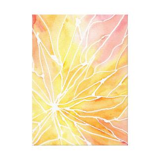 Orange Wasserfarbe-Marmor-Bruch-Leinwand Leinwanddruck