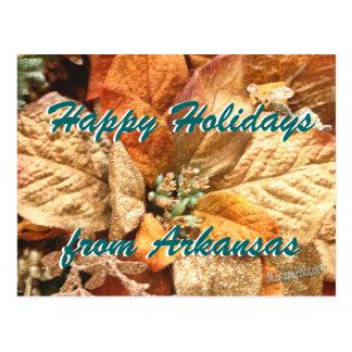 Orange Weihnachtspoinsettia fertigen besonders an Postkarte