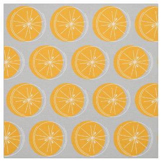 Orange weißes Gewebegrau der Zitrusfrucht Stoff