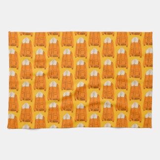 Orange Winter-Jacke Handtücher