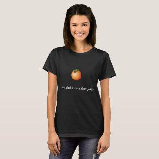 Orange Wortspiel-Shirt T-Shirt