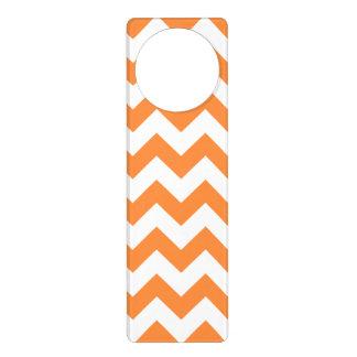 Orange Zickzack Stripes Zickzack Muster Türanhänger