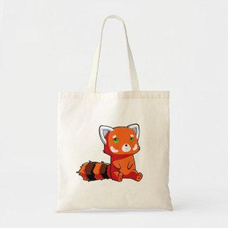 Orangefarbene Tasche Waschbär
