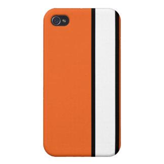 Orangen-Rebellenstreifen iPhone 4/4S Cover