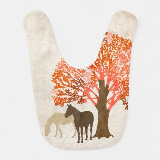 Orangen-und Brown-Herbst-Pferde Lätzchen