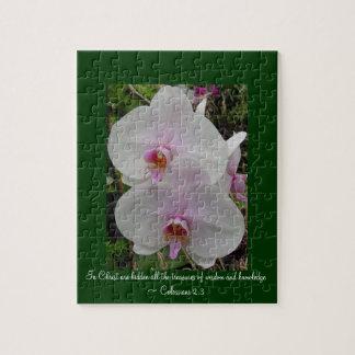 Orchidee - rosa Blüte (Colossians 2: 3) Puzzle