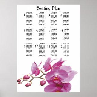 Orchideen-billige Hochzeit verpackt Poster