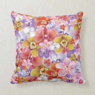 Orchideen-Blumen entwerfen Blumendruckthrow-Kissen Kissen