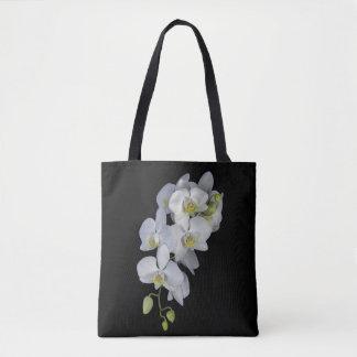 Orchideen-Girlande ganz über Druck-Tasche