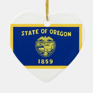 OregonFlag Keramik Ornament