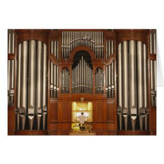 Organist an der Organkonsole Karte