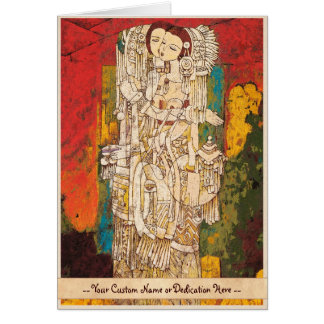 Orientalische abstrakte Damenkunst Schwester-Chens Karte