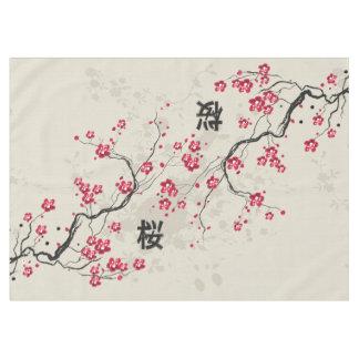 Orientalische Art-Kirschblüte-Kirschblüten-Kunst Tischdecke