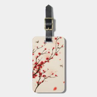 Orientalische Artmalerei, Pflaumenblüte im Frühjah Gepäck Anhänger
