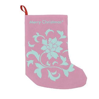 Orientalische Blume - frohe Weihnachten - Rosa Kleiner Weihnachtsstrumpf