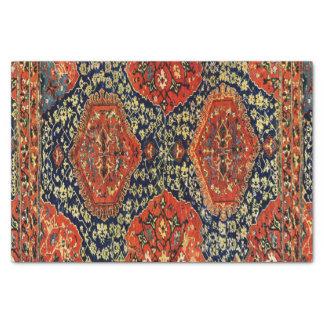 Orientalische Wolldecke im blue&orange Seidenpapier