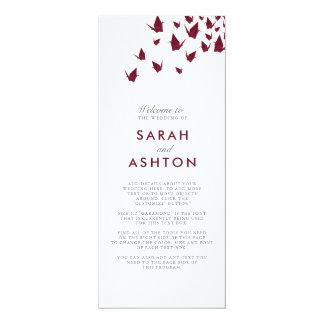 Origami streckt Hochzeits-Programm 10,2 X 23,5 Cm Einladungskarte