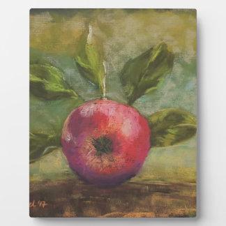 Originalvorlage, die roten Apfel malt Fotoplatte