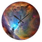 Orions-Nebelfleck-Raum-Galaxie Große Wanduhr