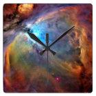 Orions-Nebelfleck-Uhr Quadratische Wanduhr
