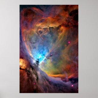 Orions-Nebelfleck-Weltraum-Galaxie Poster