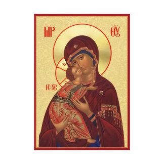 Orthodoxe Ikone - Vladimir Mutter des Gottes Gespannte Galerie Drucke