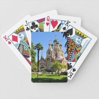 Orthodoxe Kirche in Nizza Frankreich Spielkarten