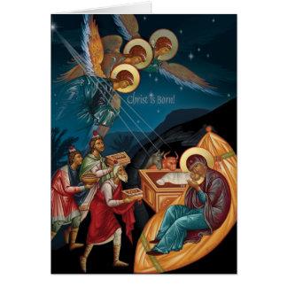 Orthodoxe Weihnachtskarten Grußkarte
