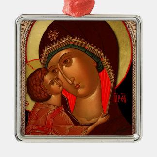Orthodoxe Weihnachtsverzierung - Novgorod Silbernes Ornament