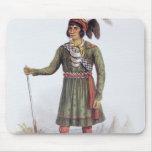 """Osceola oder """"aufgehende Sonne"""", ein Seminole-Führ Mauspads"""