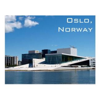 Oslo-Opernhaus in Norwegen an einem Sommer-Tag Postkarte