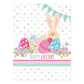 Osterhase mit den grüßenden Eiern Postkarte