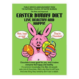 Osterhasen-Diät Postkarte