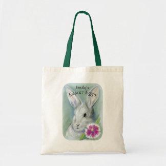 Osterhasen-Kaninchen mit der rosa Blume Tragetasche