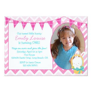 Osterhasen-Mädchen-Geburtstags-Party Einladung