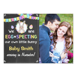 Osterhasen-Schwangerschaft decken Mitteilung auf Karte