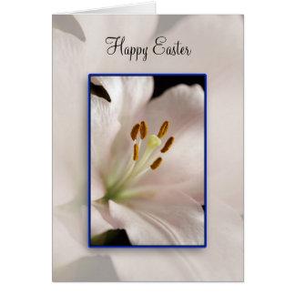 Osterlilie - fröhliche Ostern Karte