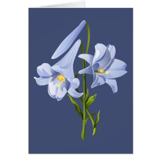 Osterlilien-Blumenstrauß Karte