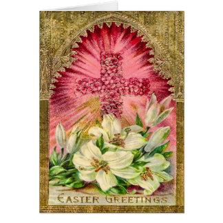 Osterlilien und Querkarte Karte