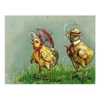 Ostern-Kitsch Postkarte