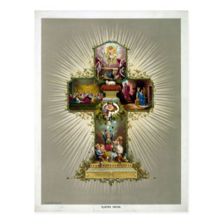 Ostern-Kreuz Postkarte