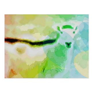 Ostern-Schafe Postkarte
