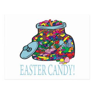 Ostern-Süßigkeit Postkarte