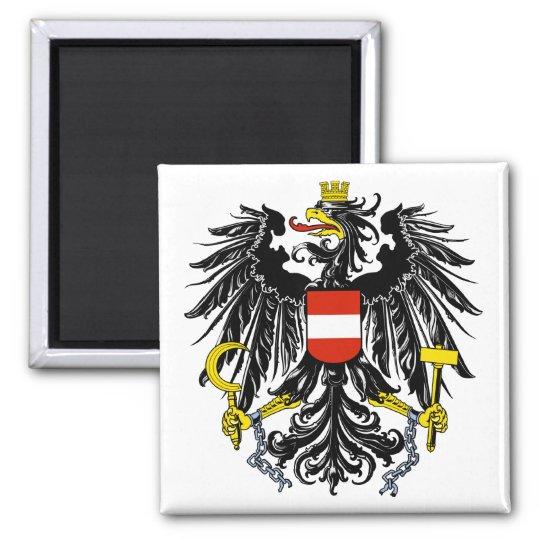 Österreich - Bundesadler Quadratischer Magnet