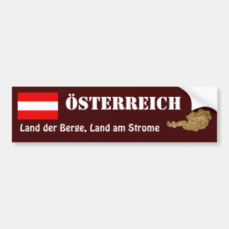 Österreich-Flagge + Karten-Autoaufkleber Autoaufkleber