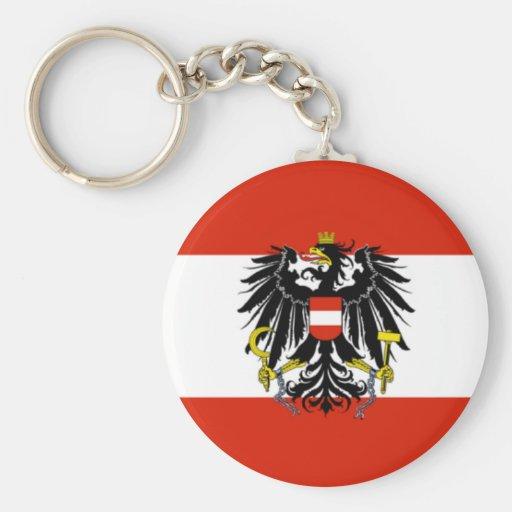 Österreich-Flagge Keychain Schlüsselanhänger