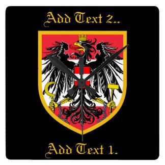 Österreich-Flagge Wanduhren