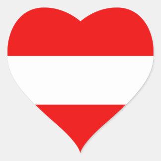 Österreich-Flaggen-Herz-Aufkleber Herz Sticker