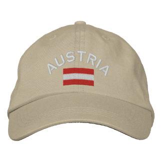 Österreich-Hut - österreichische Flagge Bestickte Kappe