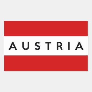 Österreich-Landesflaggesymbol-Namentext Rechteckiger Aufkleber